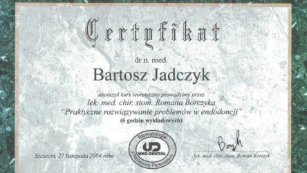 Bartosz Jadczyk - certyfikat18