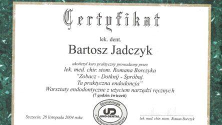 Bartosz Jadczyk - certyfikat22