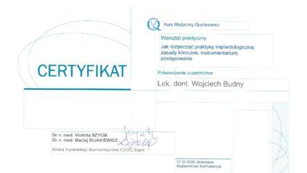 Ceryfikat Wojciech Budny5