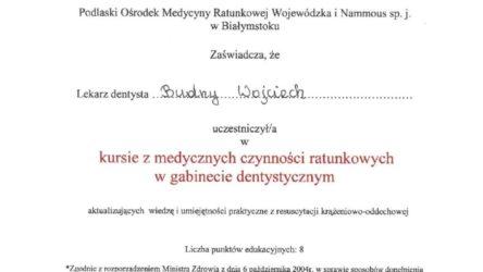 Ceryfikat Wojciech Budny4