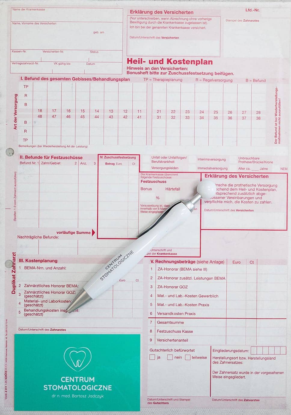 Formularz leczenia